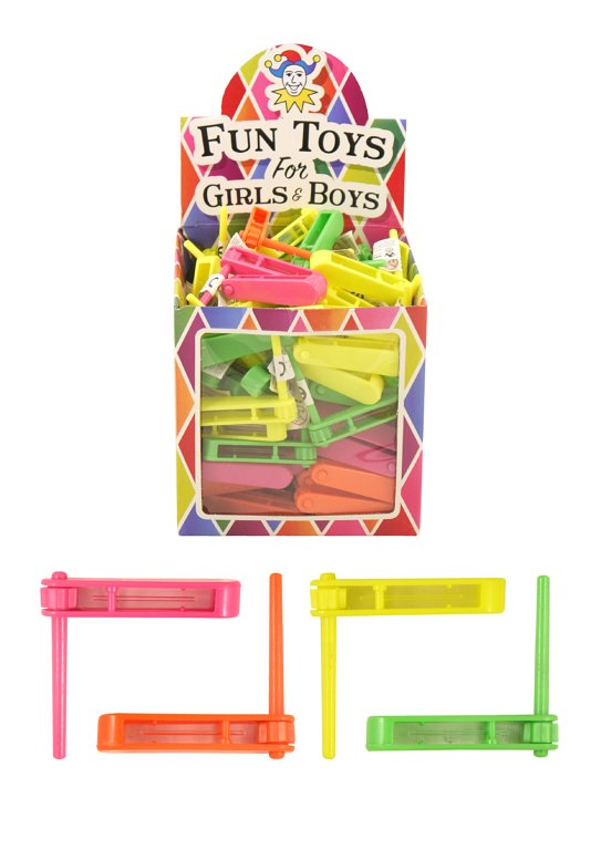 Rattle Toys (6.5cm) 4 Assorted Neon Colours