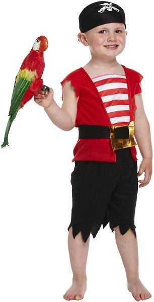 Pirate Boy Fancy Dress Costume (Toddler / 3 Years)