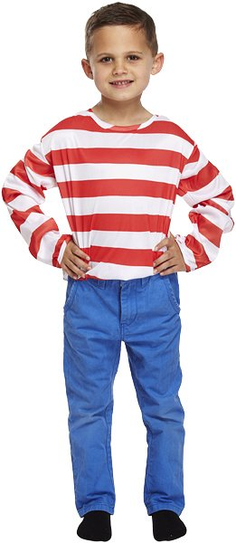 Children's Striped Red and White Top (Small / 4-6 Years)