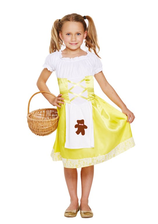 Children's Porridge Girl Costume (Medium / 7-9 Years)
