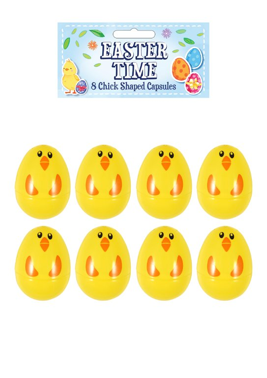 Chick Shaped Easter Egg Capsules (6cm) Party Favours and Prizes
