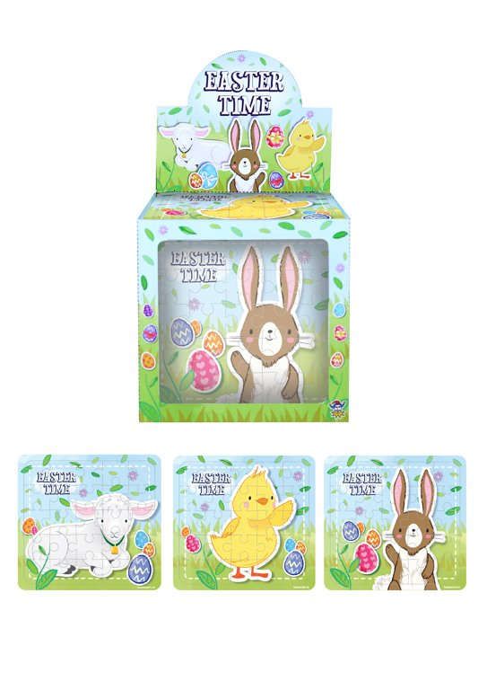 Mini Easter Jigsaw Puzzles, Assorted Designs (13x12cm)