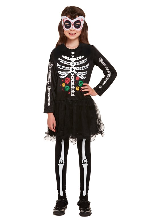 Children's Day of the Dead Skeleton Costume (Small / 4-6 Years)
