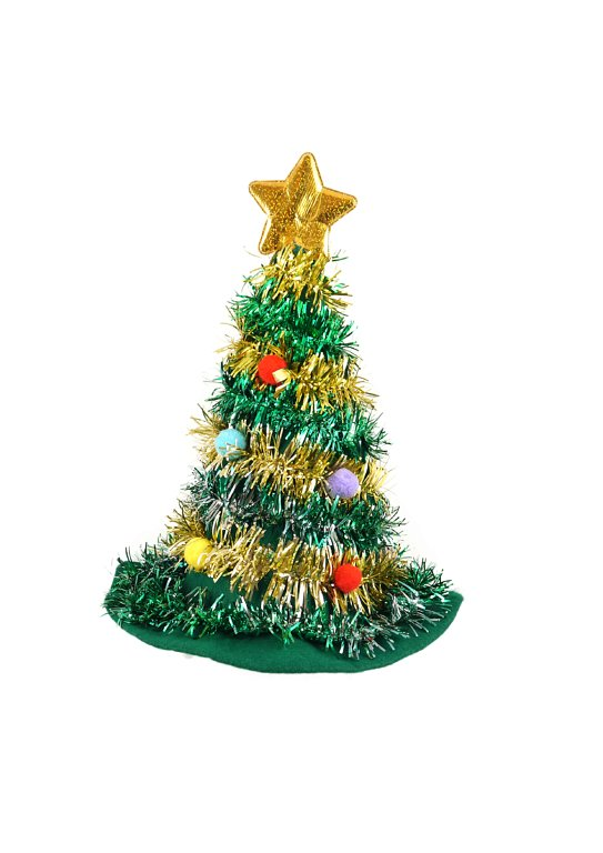 Christmas Tree Hat with Star (Adult)