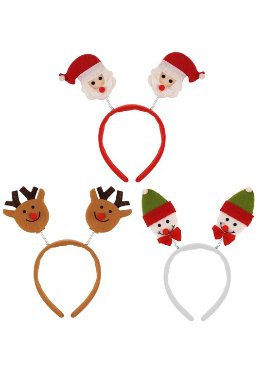 Christmas Head Bopper Headbands (3 Assorted Designs)