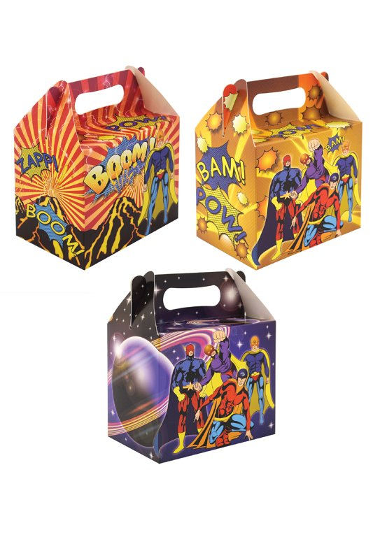 Superhero Lunch Boxes (3 Assorted Designs)