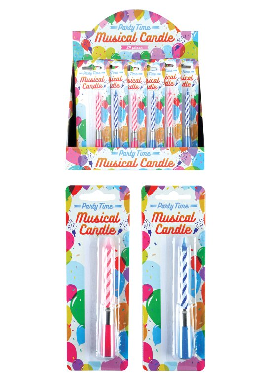 Musical Birthday Candle (2 Assorted Colours)