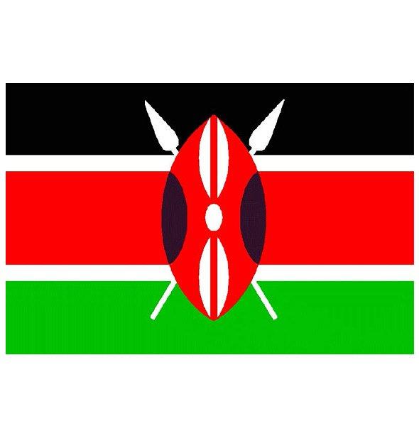 New Kenya Flag Large 5ft x 3ft with 2 metal Eyelets