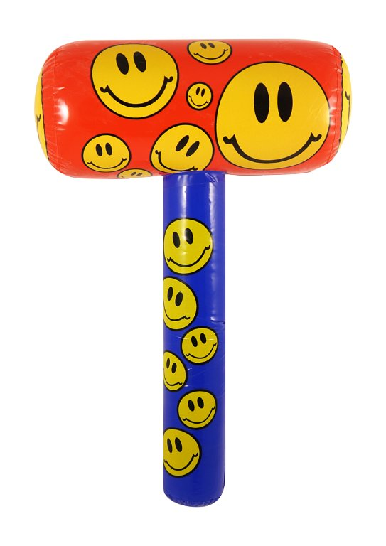Inflatable Mallet with Smile Print (48cm)