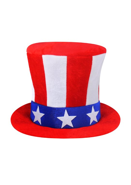 USA Stars and Stripes Top Hat (Adult)
