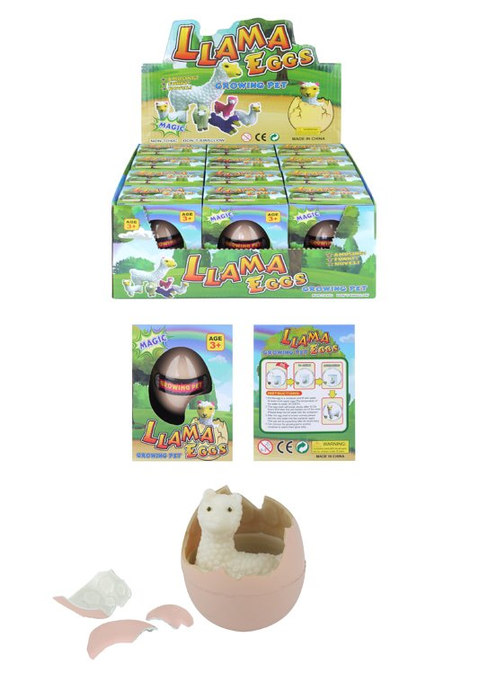 Hatching Llama Eggs - 4 Assorted Colours and 6 Assorted Designs