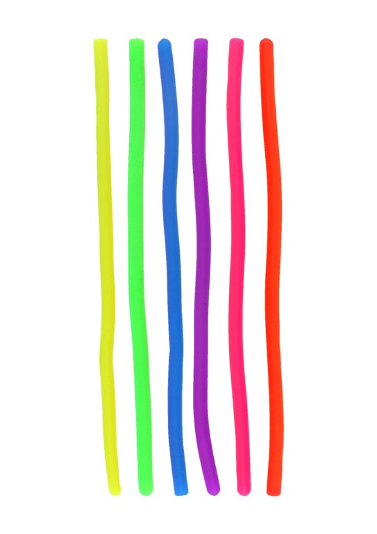 Stretchy Elastic String Noodle (6 Assorted Colours)
