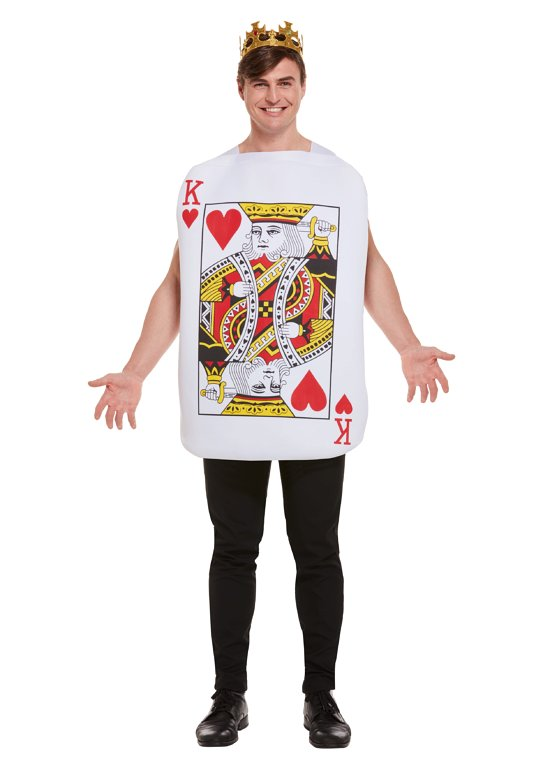 King of Hearts Playing Card (One Size) Adult Fancy Dress Costume