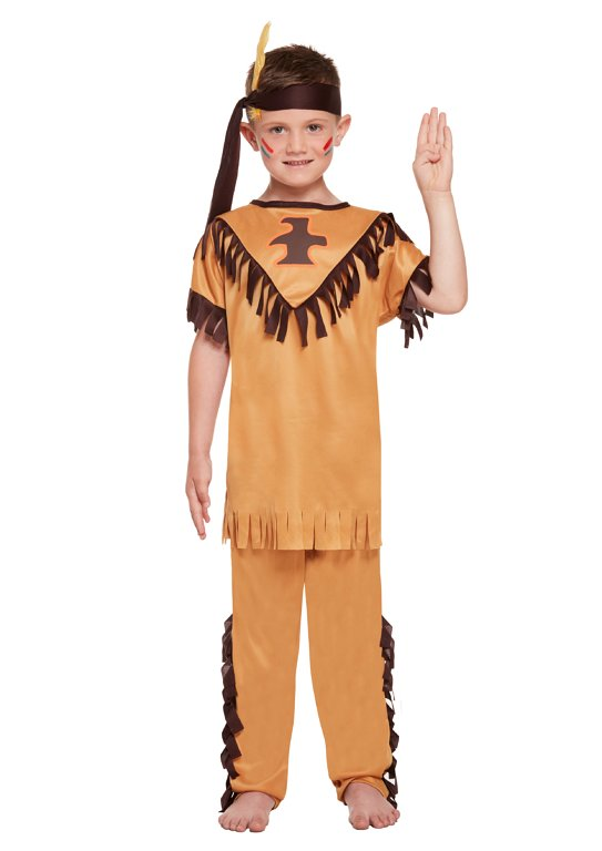 Children's American Indian Boy Costume (Small / 4-6 Years)