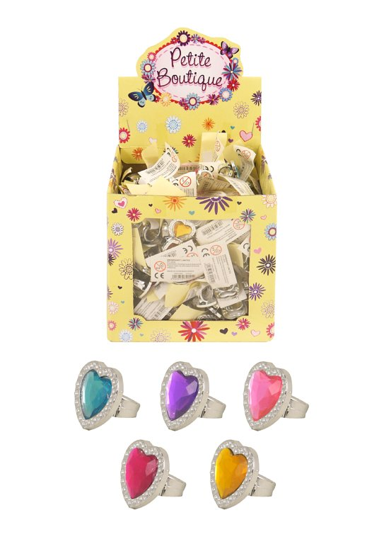 Heart Rings (2cm x 4cm) Assorted Colours and Designs