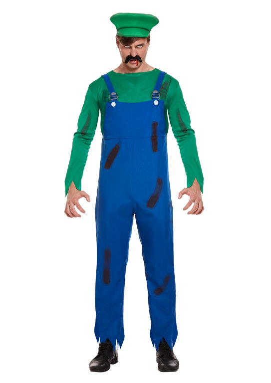 Zombie Super Workman (Green (One Size) Adult Fancy Dress Costume