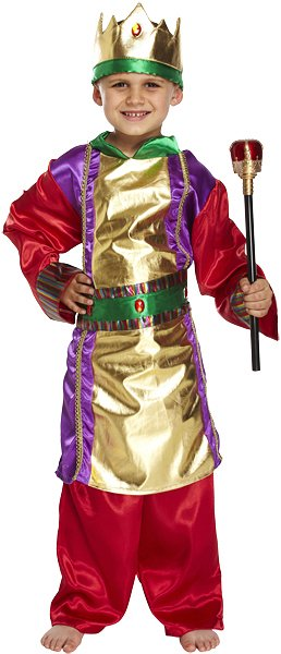 Children's King Costume (Large / 10-12 Years)