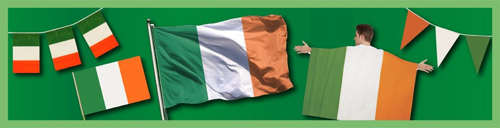 Irish Flags Bunting Banner