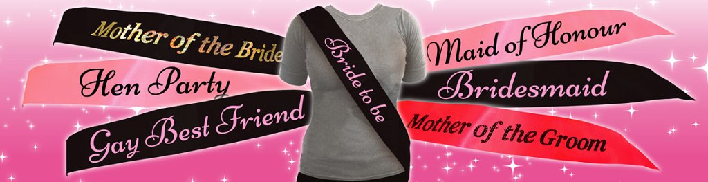 Hen Party Sashes Banner