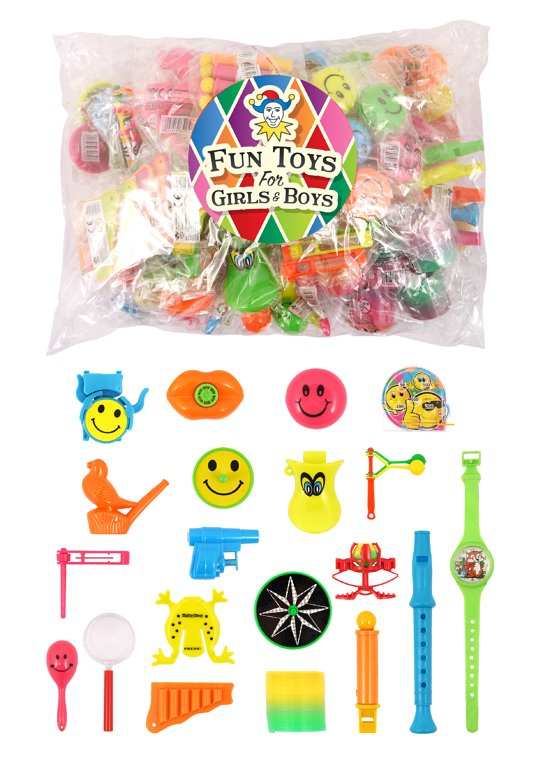 100 Piece Assorted Toy Bags (Various Toys Included) Standard
