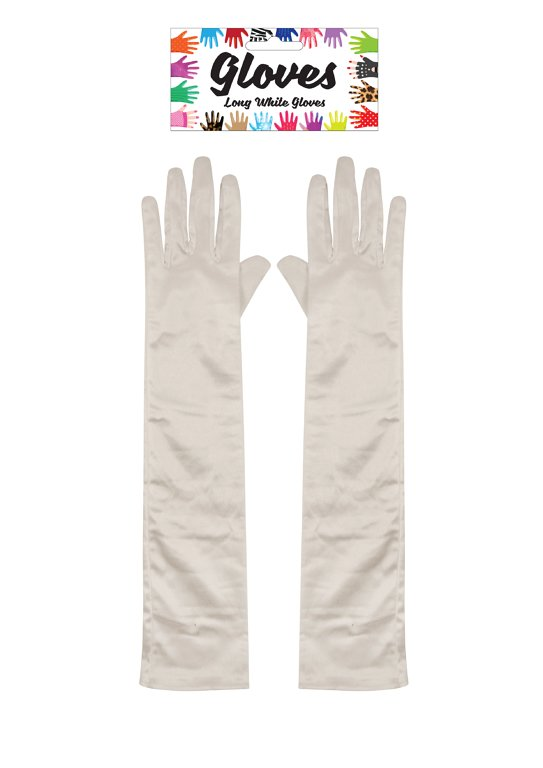 Long White Gloves (45cm) Adult