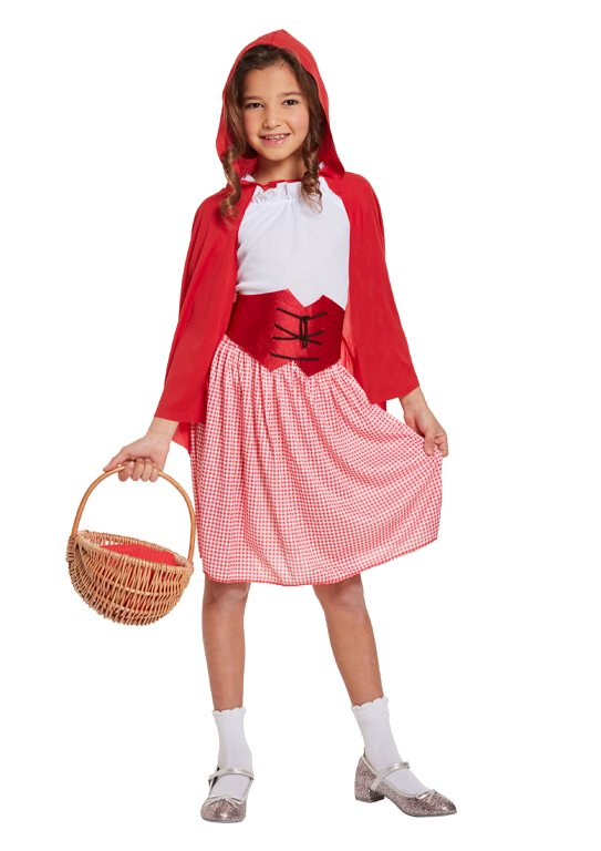 Children's Red Hooded Girl Costume (Large / 10-12 Years)