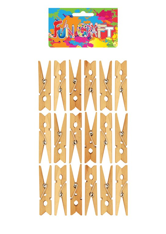 Mini Wooden Pegs Craft Kit (4.8cm)