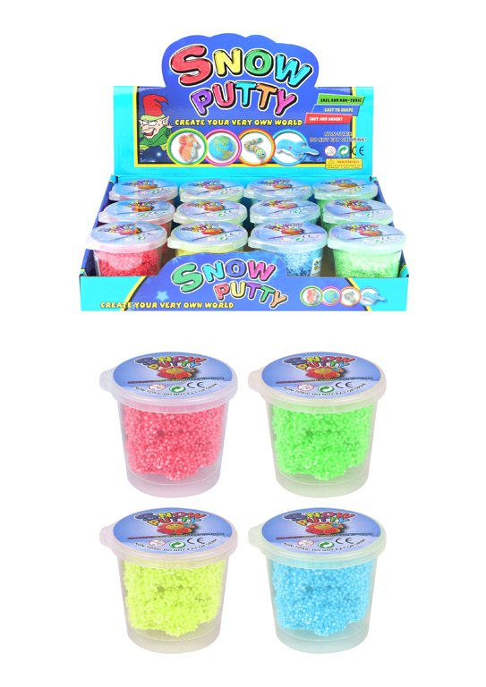 Snow Putty Tubs (6cm x 7cm) 4 Assorted Colours