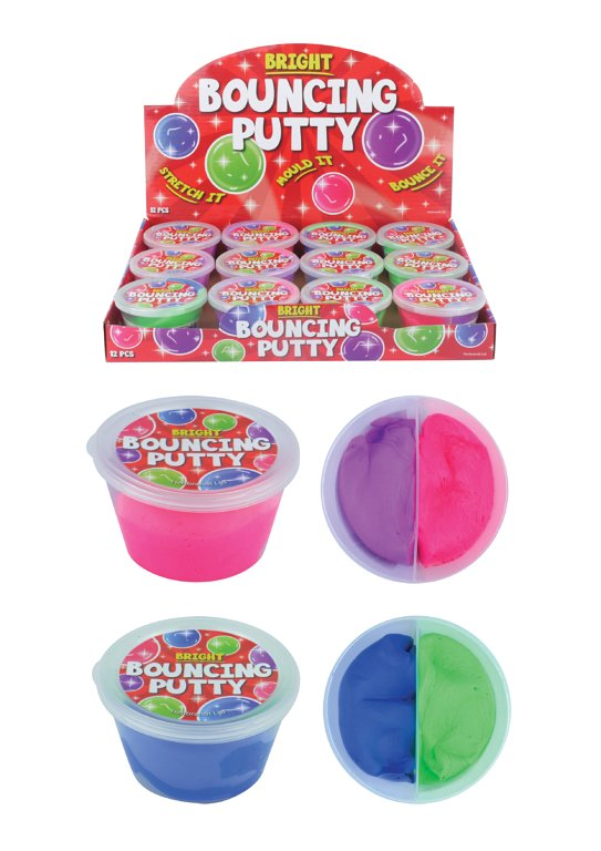 2 Colour Bouncing Putty Tubs - 7cm x 4cm (30g) Assorted Colours