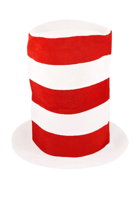 Children's Tall Red and White Top Hat
