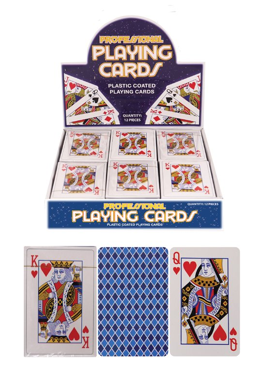 Plastic Coated Playing Cards (9x6cm)