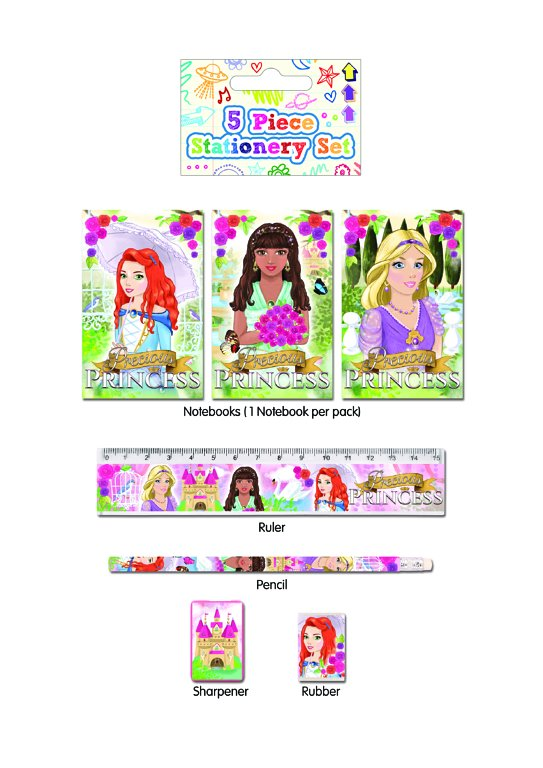 5pc Princess Stationery Sets