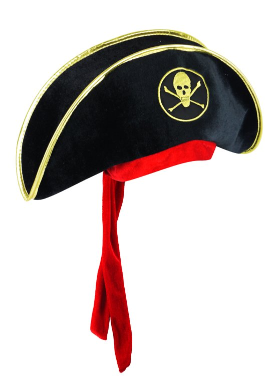 Pirate Hat with Attached Bandanna (Adult)