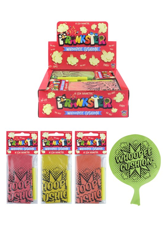 Whoopee Cushions (16.5cm) 4 Assorted Colours