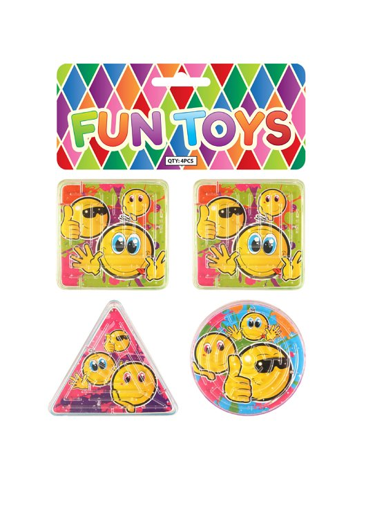 Smile Puzzle Mazes (3 Assorted Shapes and Designs)