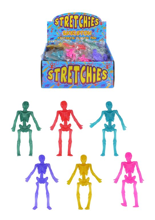 Stretch Skeletons (9cm) 6 Assorted Colours
