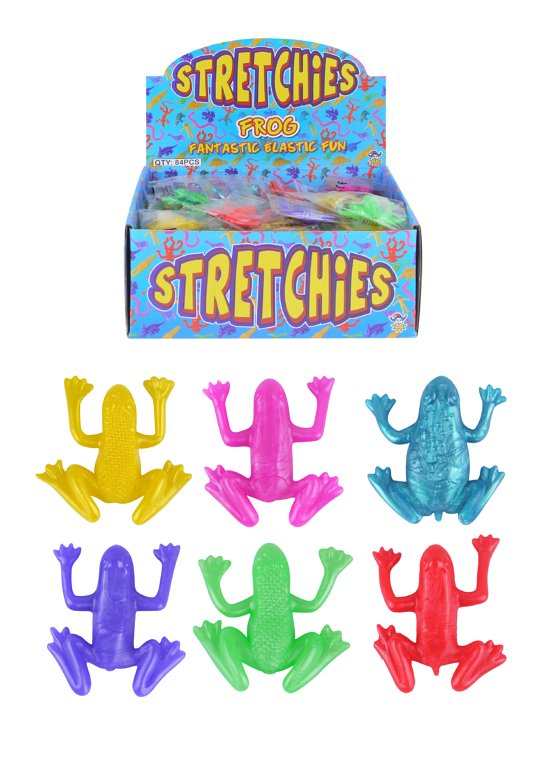 Stretch Frogs (4-4.5cm) 4 Assorted Designs / 6 Assorted Colours