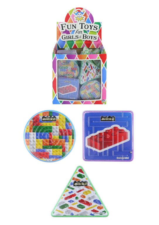 Brickz Puzzle Mazes (3 Assorted Shapes and Designs)