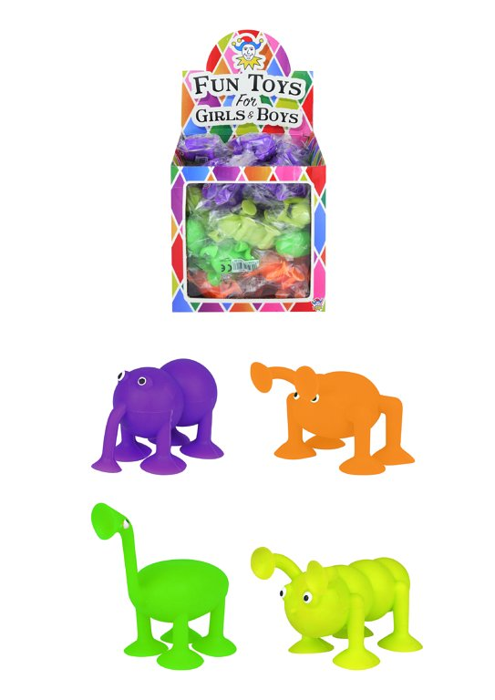 Animal Suckers (3.5cm) 4 Assorted Colours / Designs (Large Body)