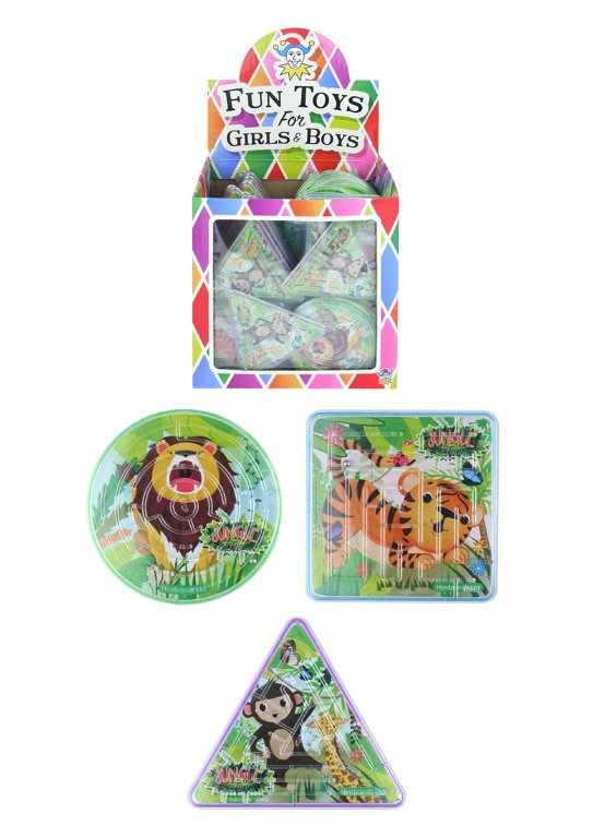 Jungle Puzzle Mazes (3 Assorted Shapes and Designs)