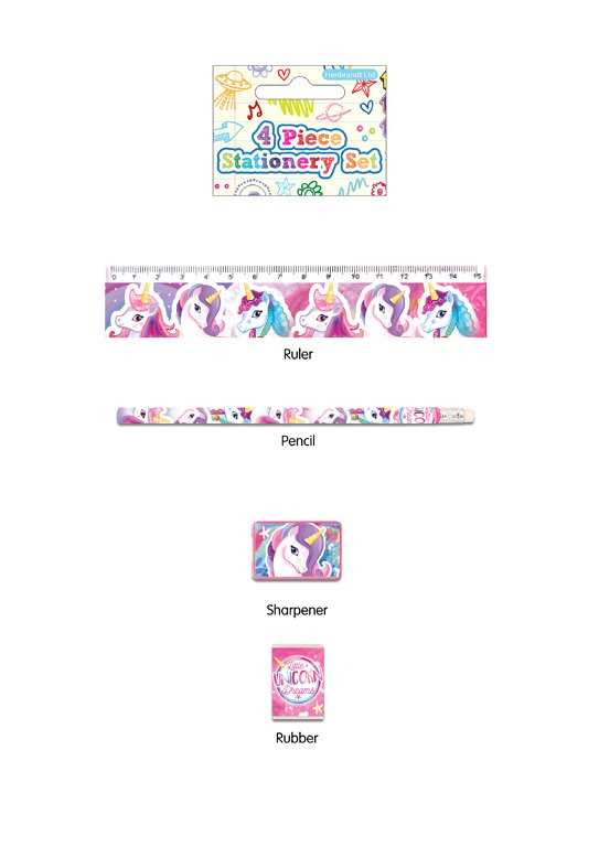 4pc Unicorn Stationery Set