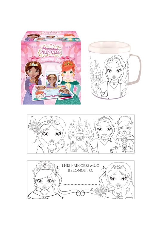 Princess Colouring Mug with 2 Assorted Designs