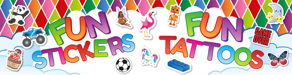 Toys Tattoos Stickers Banner