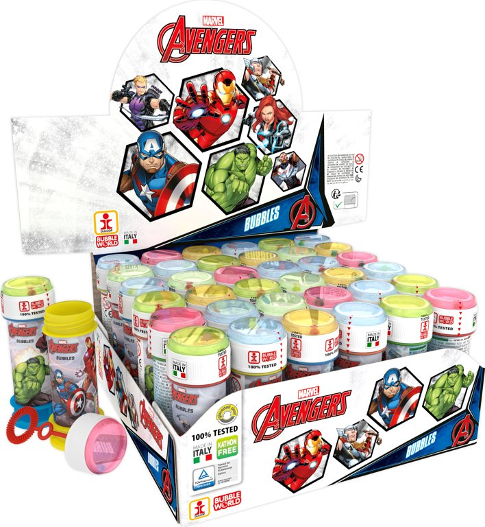 Marvel Avengers Bubble Tubes (60ml)