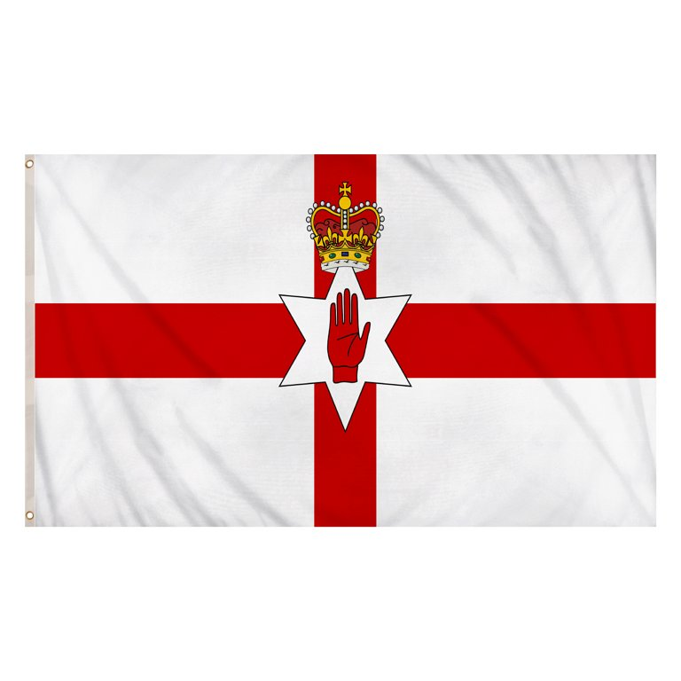 Northern Ireland Flag (5ft x 3ft) Polyester, double stitched seam, metal eyelets