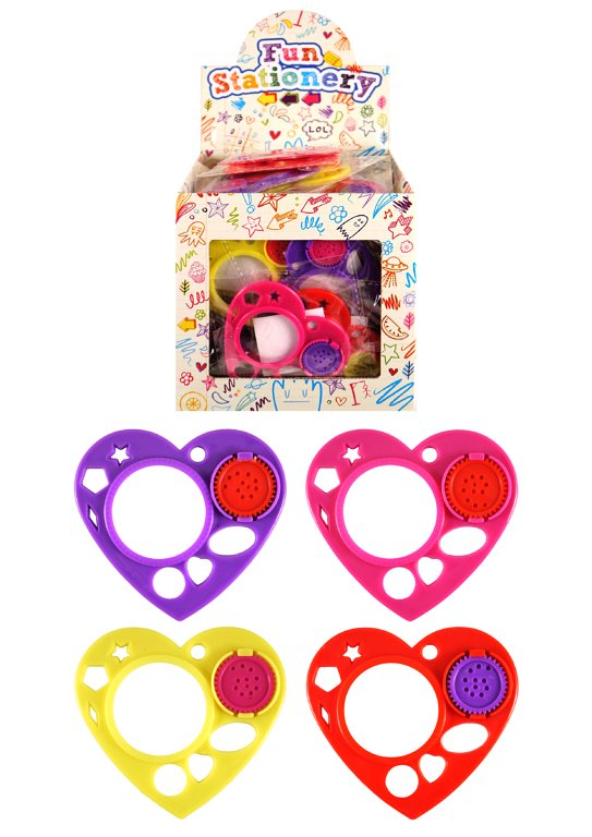 Heart Stencils (4 Assorted Colours)