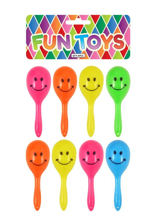 Mini Smile Face Maracas (7cm) 5 Assorted Colours