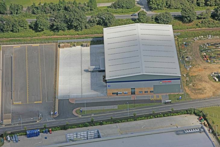 Aerial View Warehouse