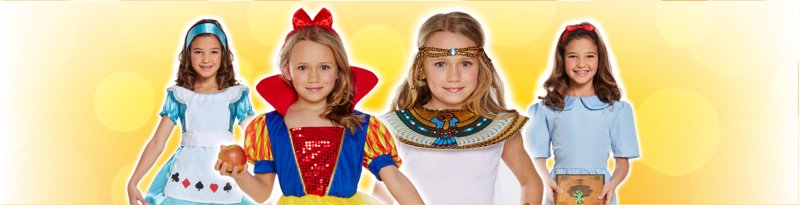 Childrens Costumes Girls Banner