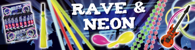 Theme Rave And Neon Banner